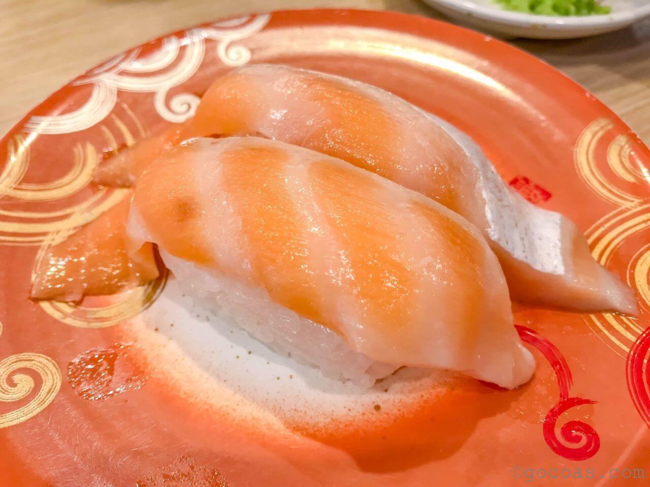 回転寿司トリトンのサーモン