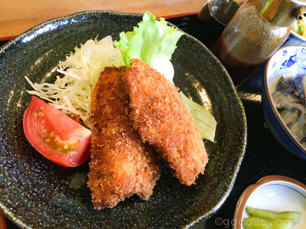 セイリング日替わり定食650円マグロのフライ
