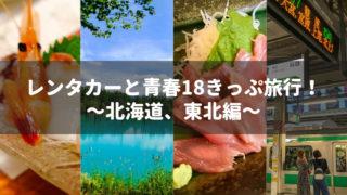 レンタカーと青春18きっぷ旅行!~北海道、東北編~