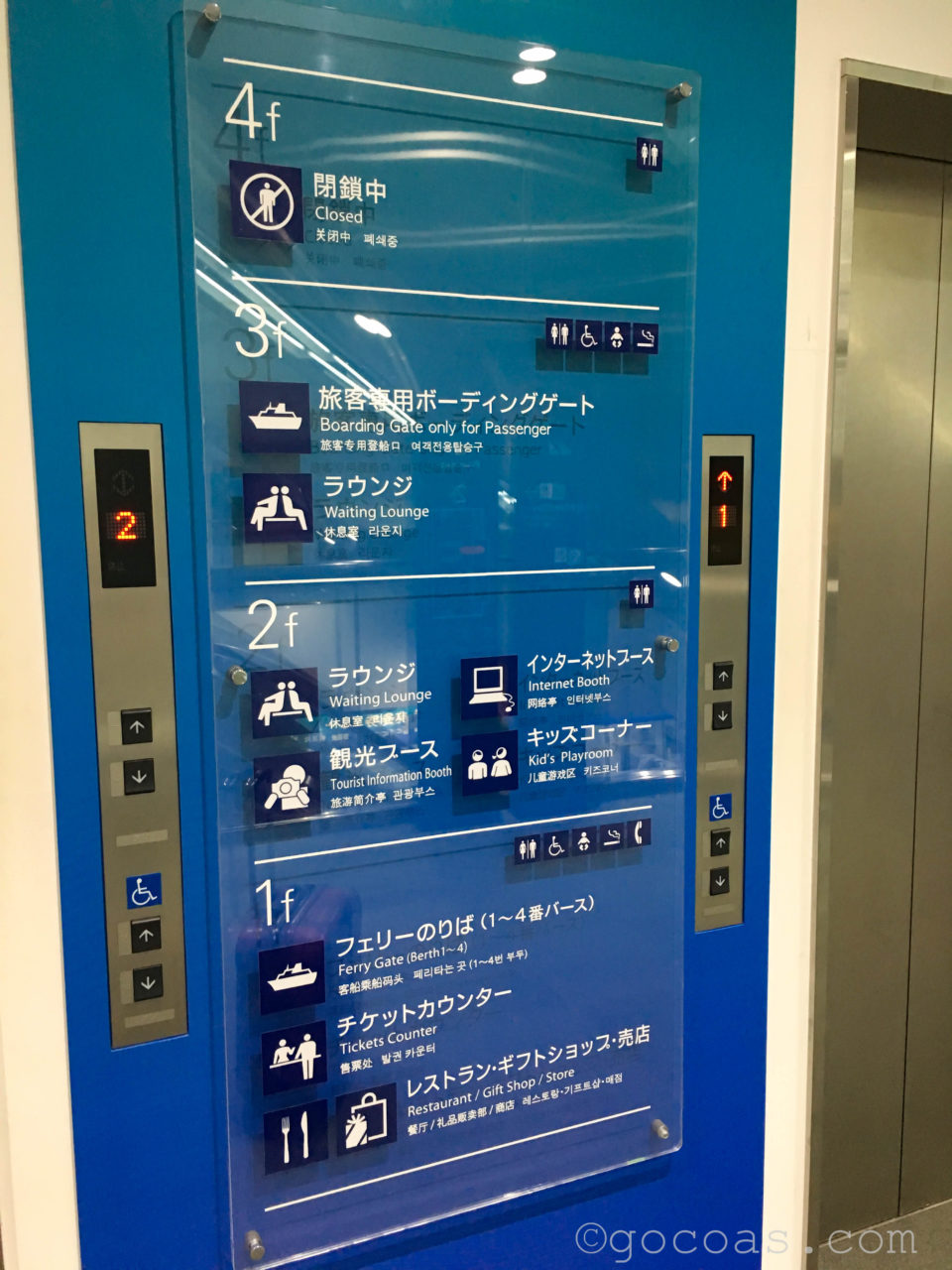 津軽海峡フェリー待合所エレベーター