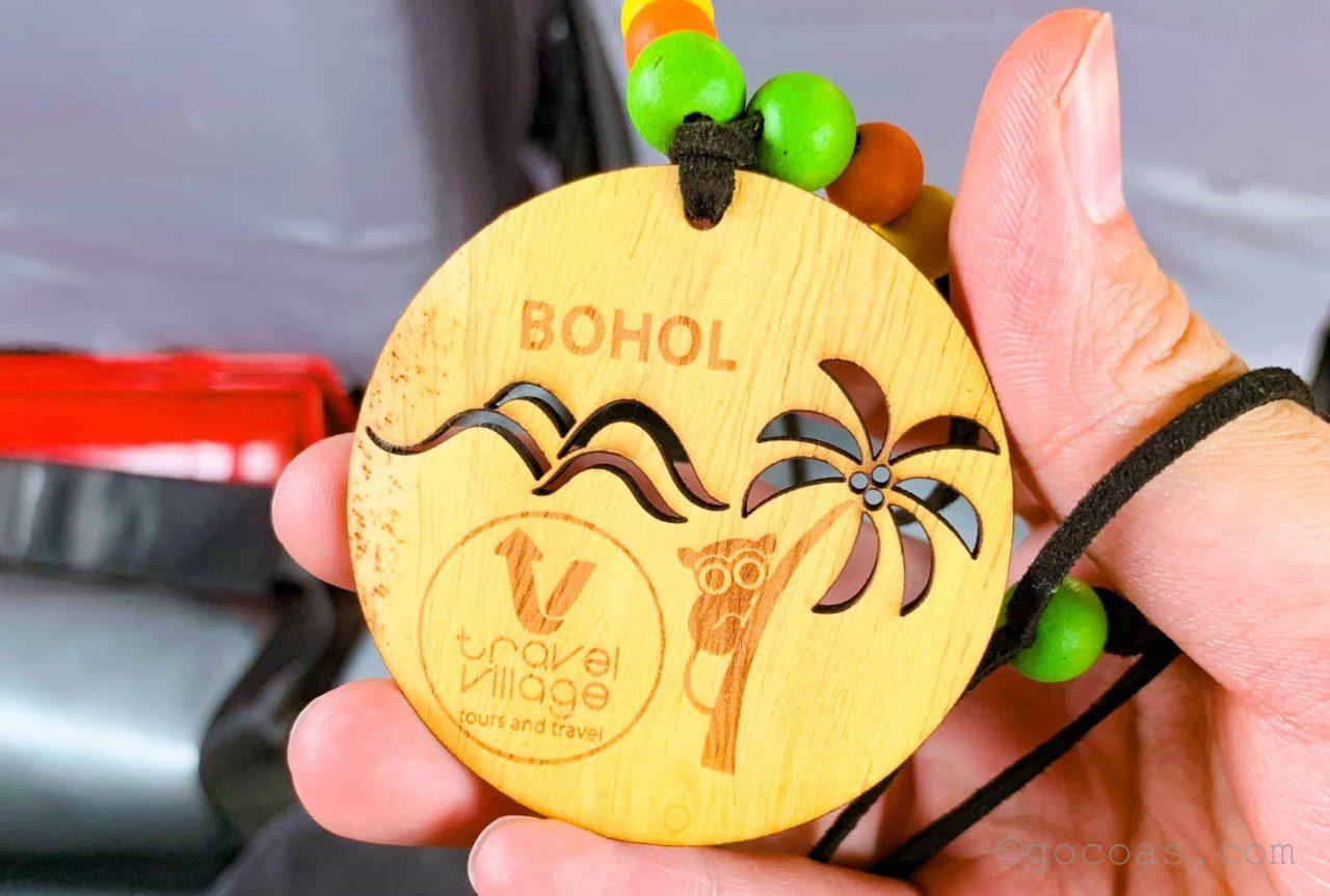 ボホールデザインの木製ペンダント