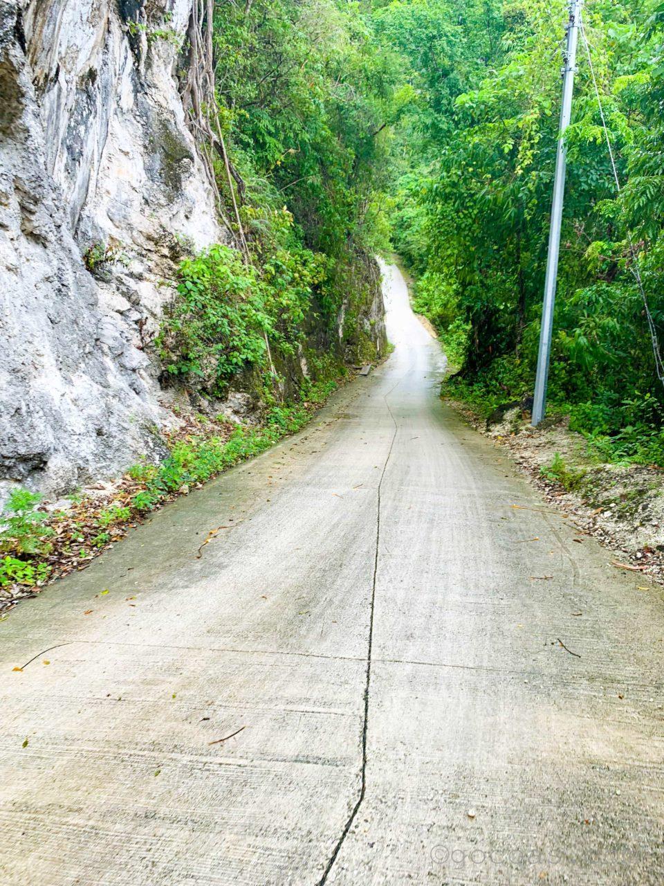 ツマログの滝途中の道