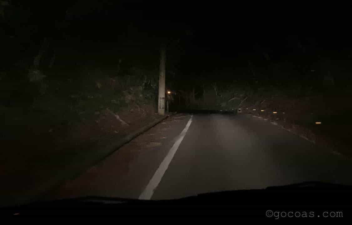 石垣島の夜道