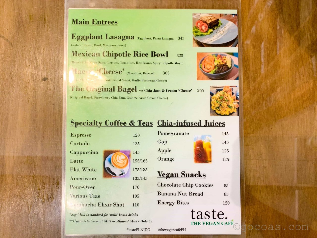 THE VEGAN CAFEメニュー