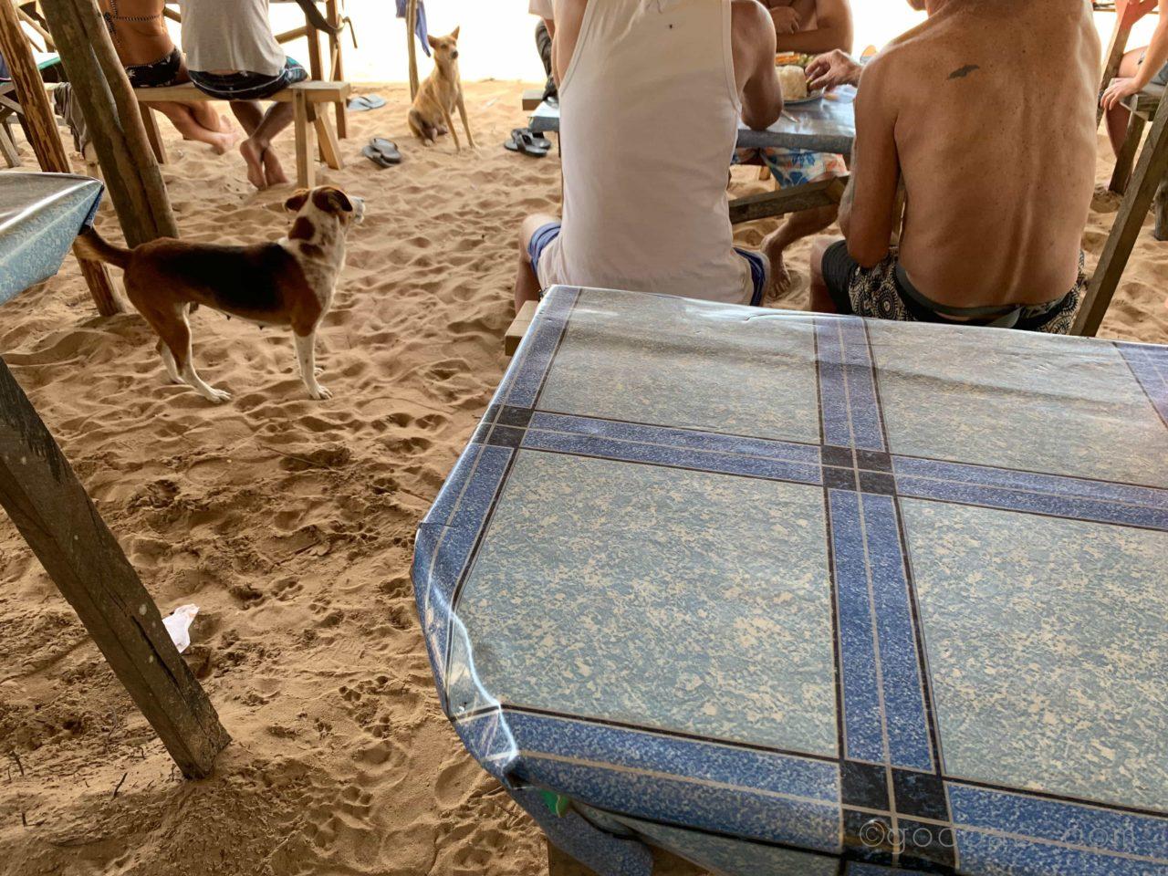 ナクパンビーチレストラン店内