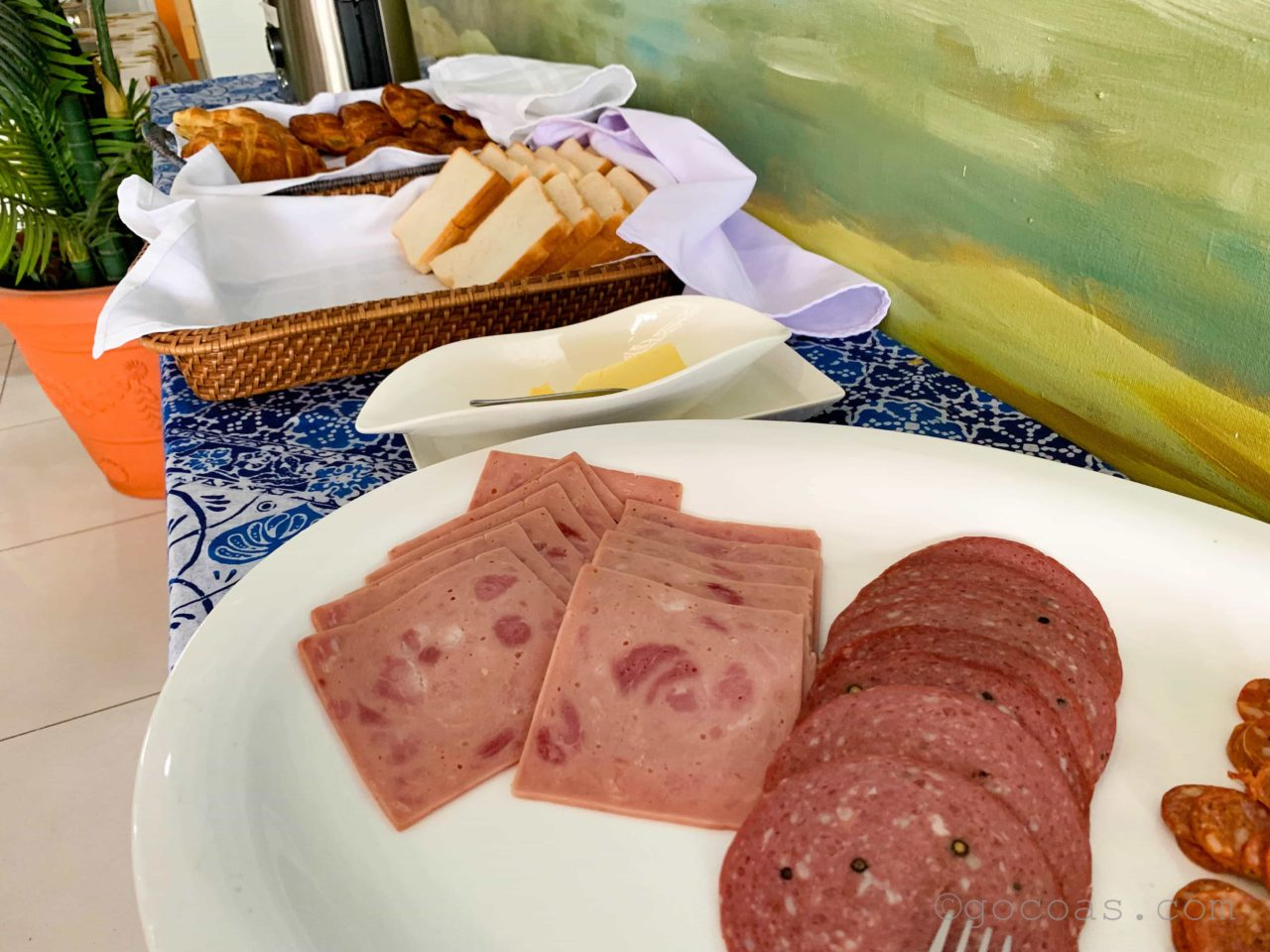 Alieiaホテル朝食
