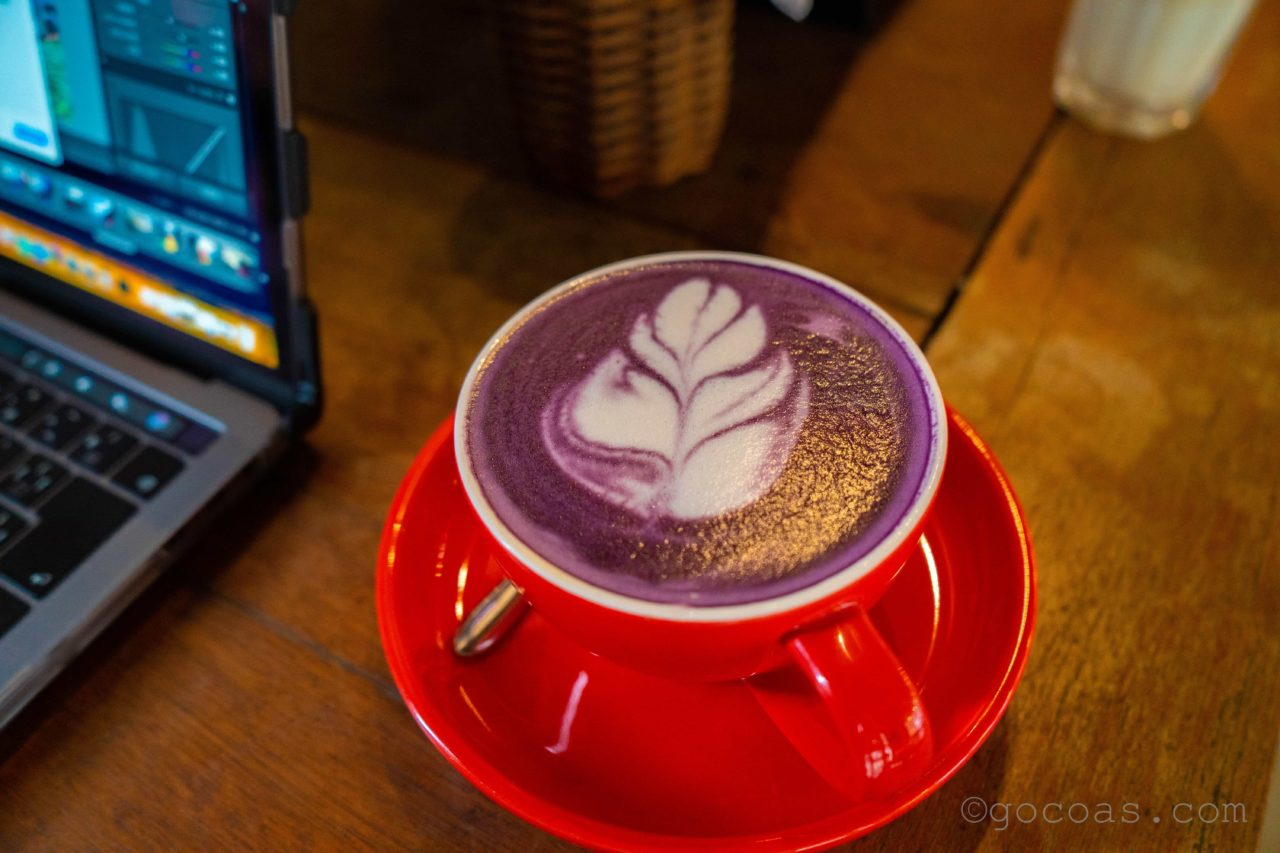 エルニドのカフェ BOTANICAのウベコーヒー