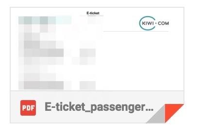 Kiwi.comのEチケット