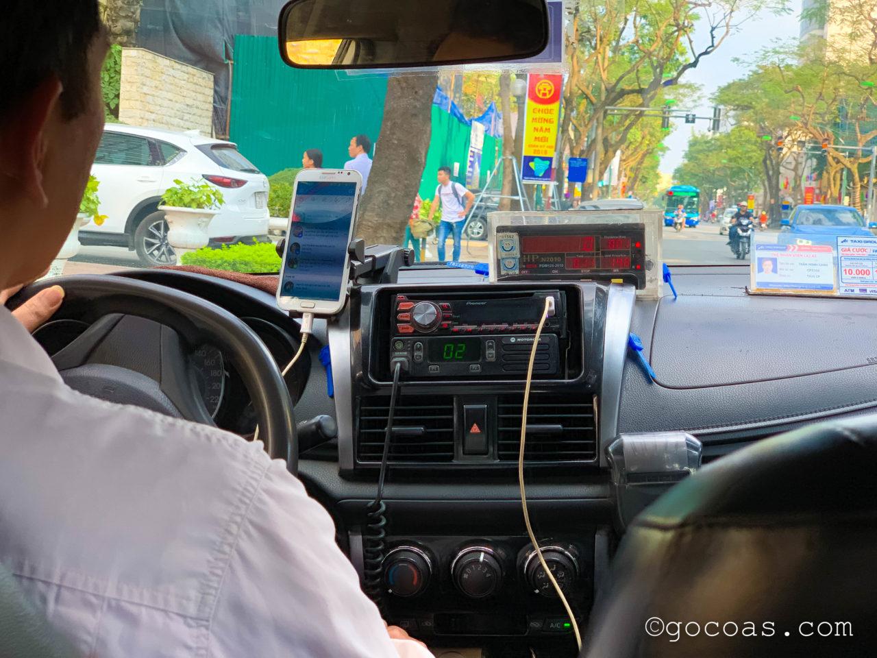 ハノイ市内からタクシー