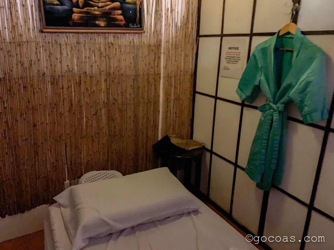 ツリーシェイドスパの部屋