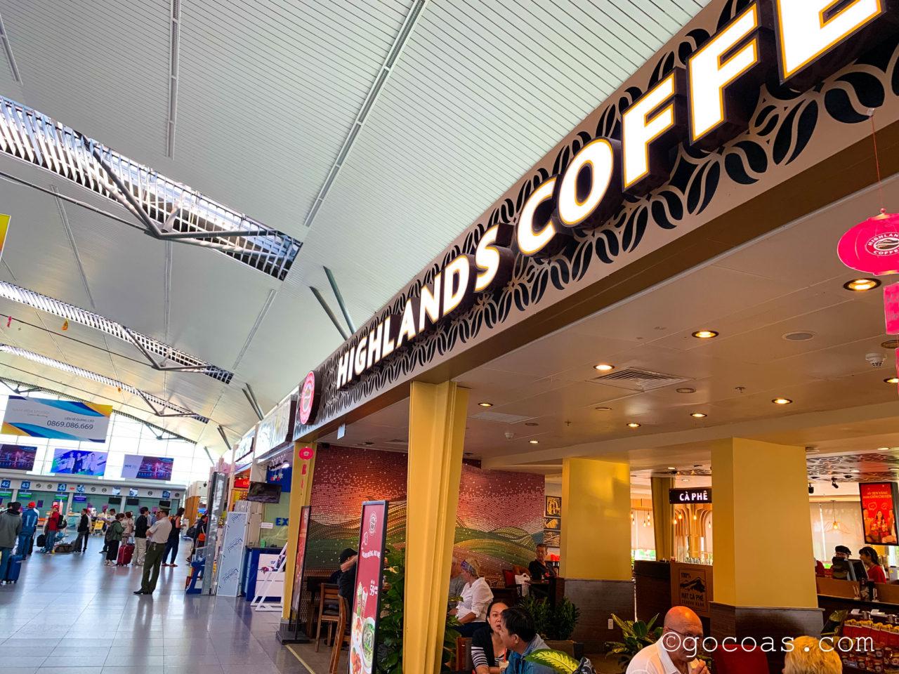 ダナン空港のHIGHLANDS COFFEE