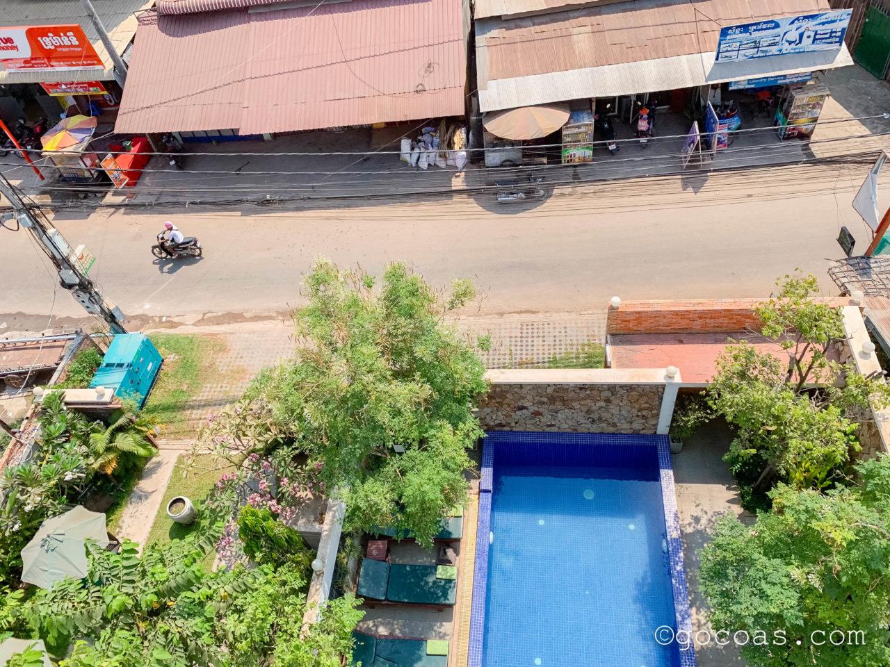 Rei Angkor Hotel&Spa窓からの眺め