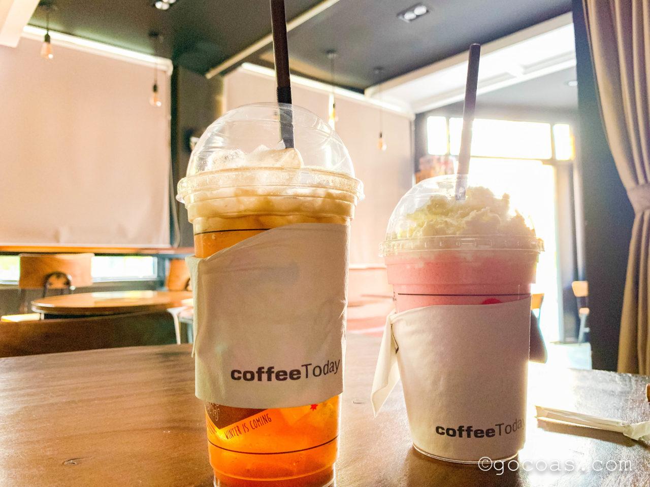 コーヒーTodayの2つのドリンク