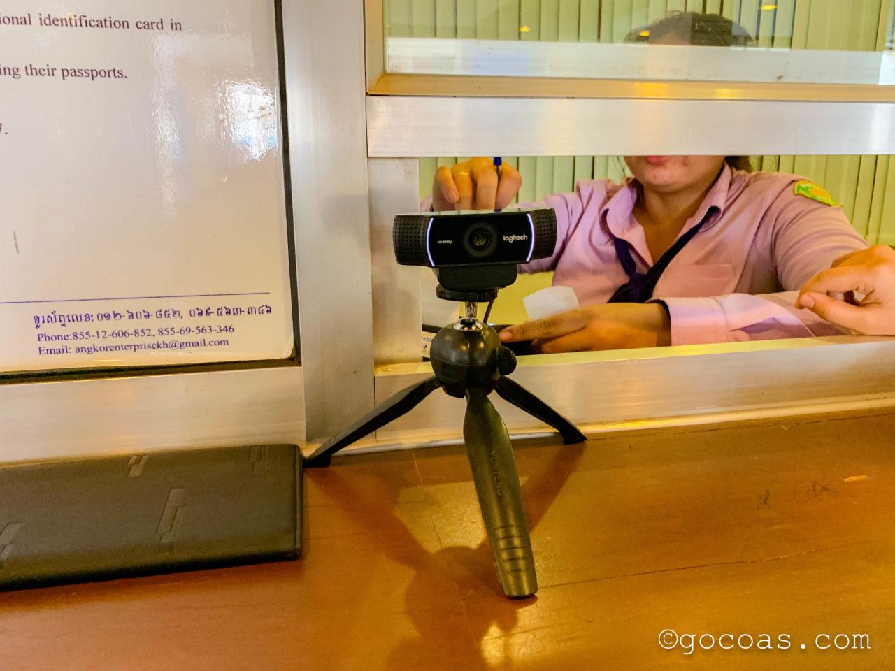 アンコールワットチケット売り場のカメラ