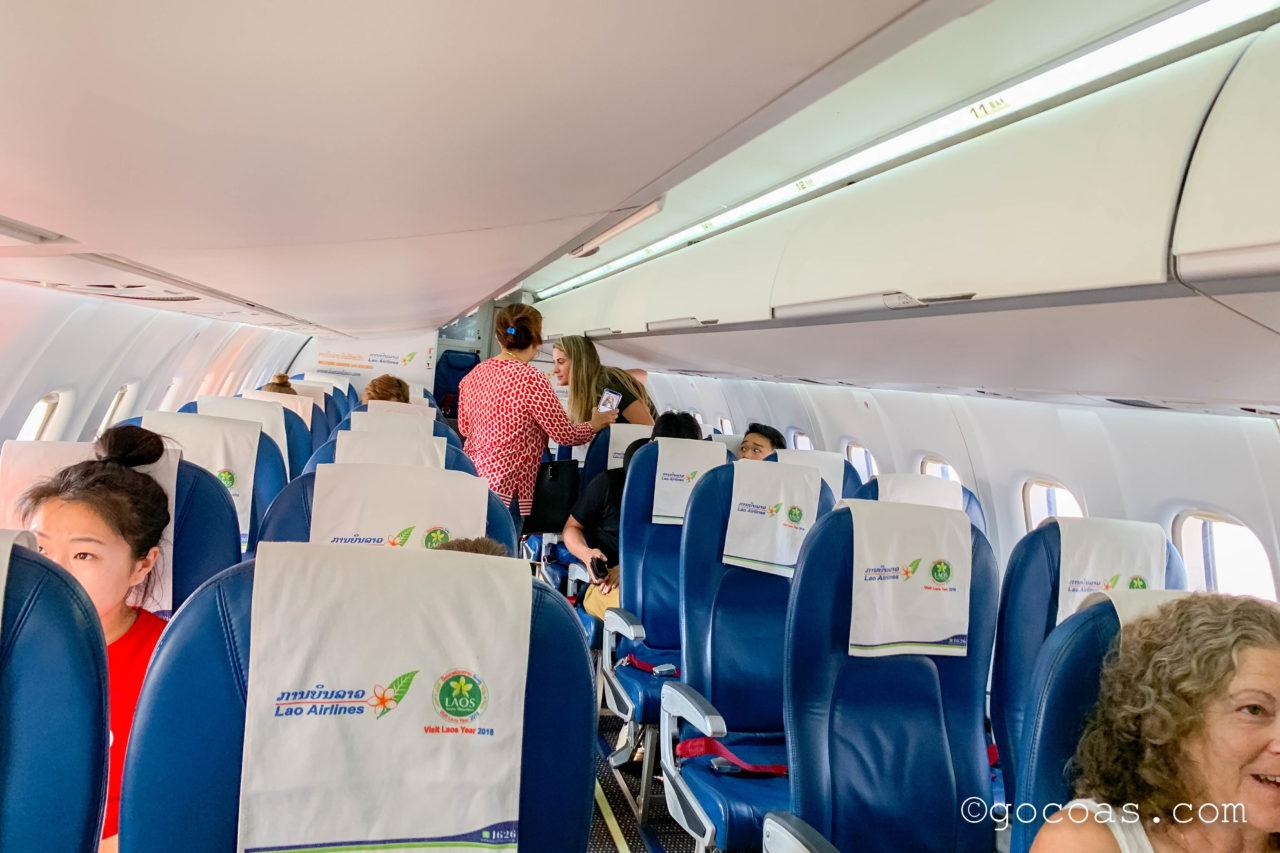 ラオス航空の機内後方