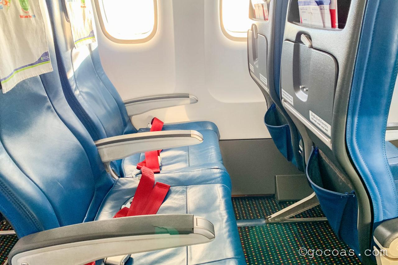 ラオス航空の座席