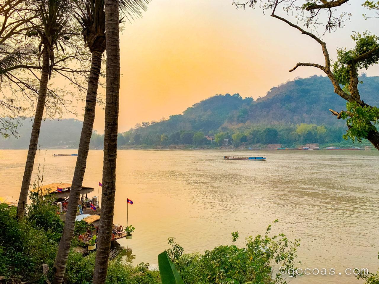 ルアンパバーンの街中にあったメコン川