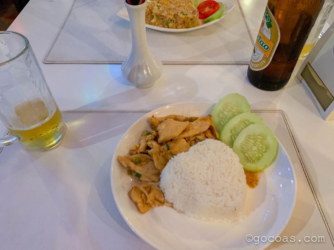 Garden Restaurantの鳥の炒め物とライス
