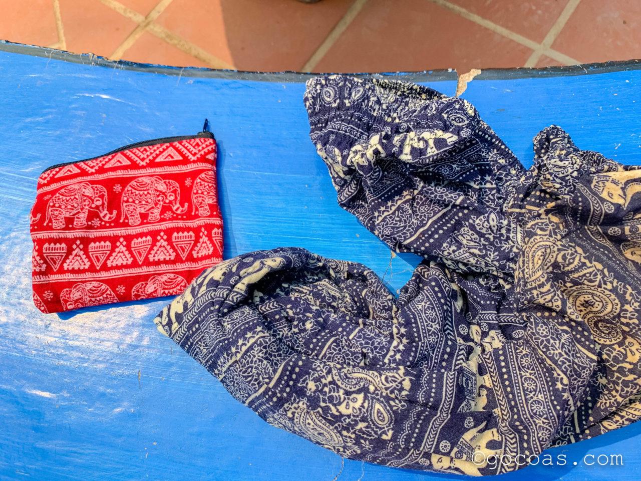 象使い体験で濡れたズボンと財布
