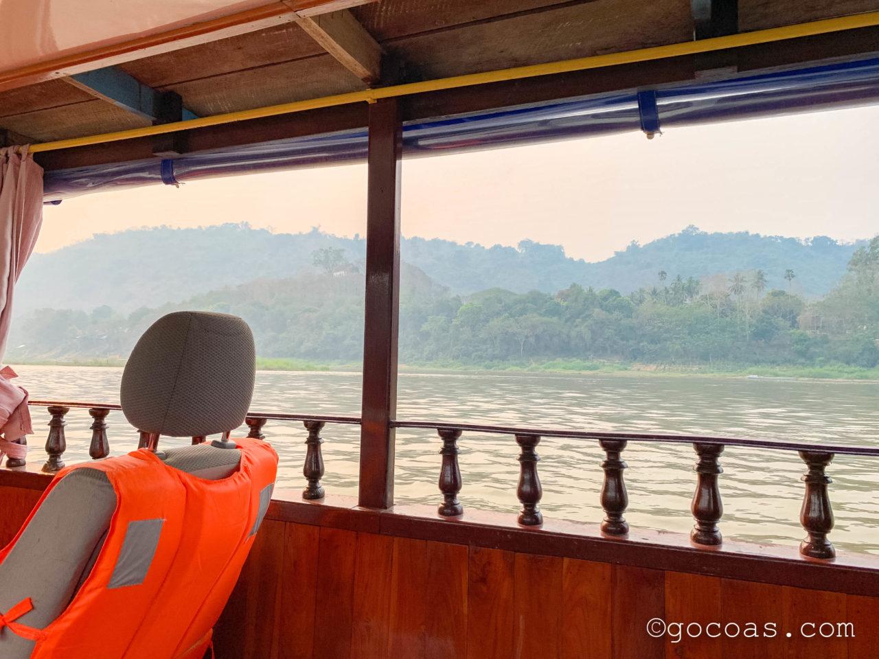象使い体験の帰りのボートからの景色