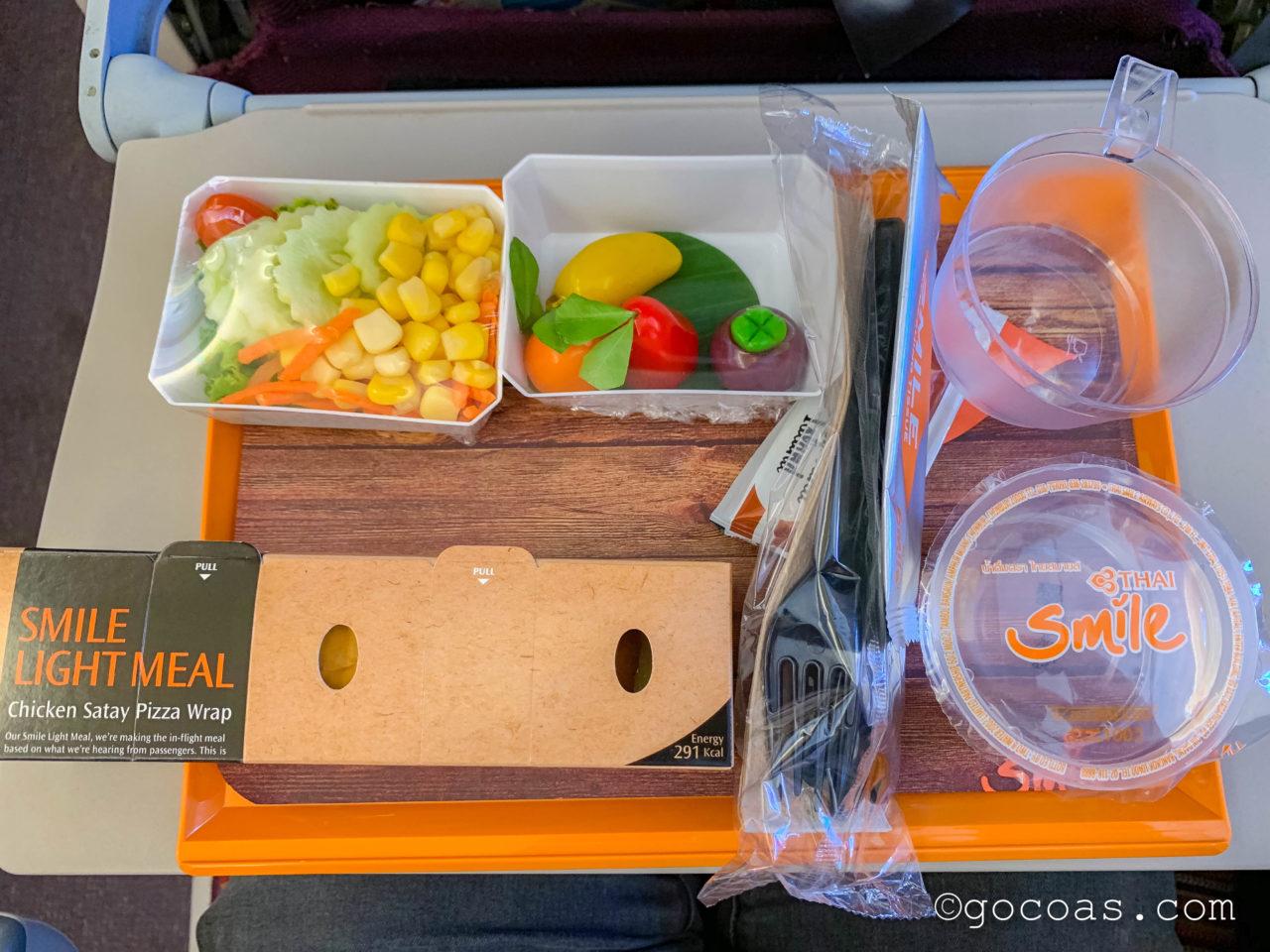 タイスマイル航空の機内食プレート
