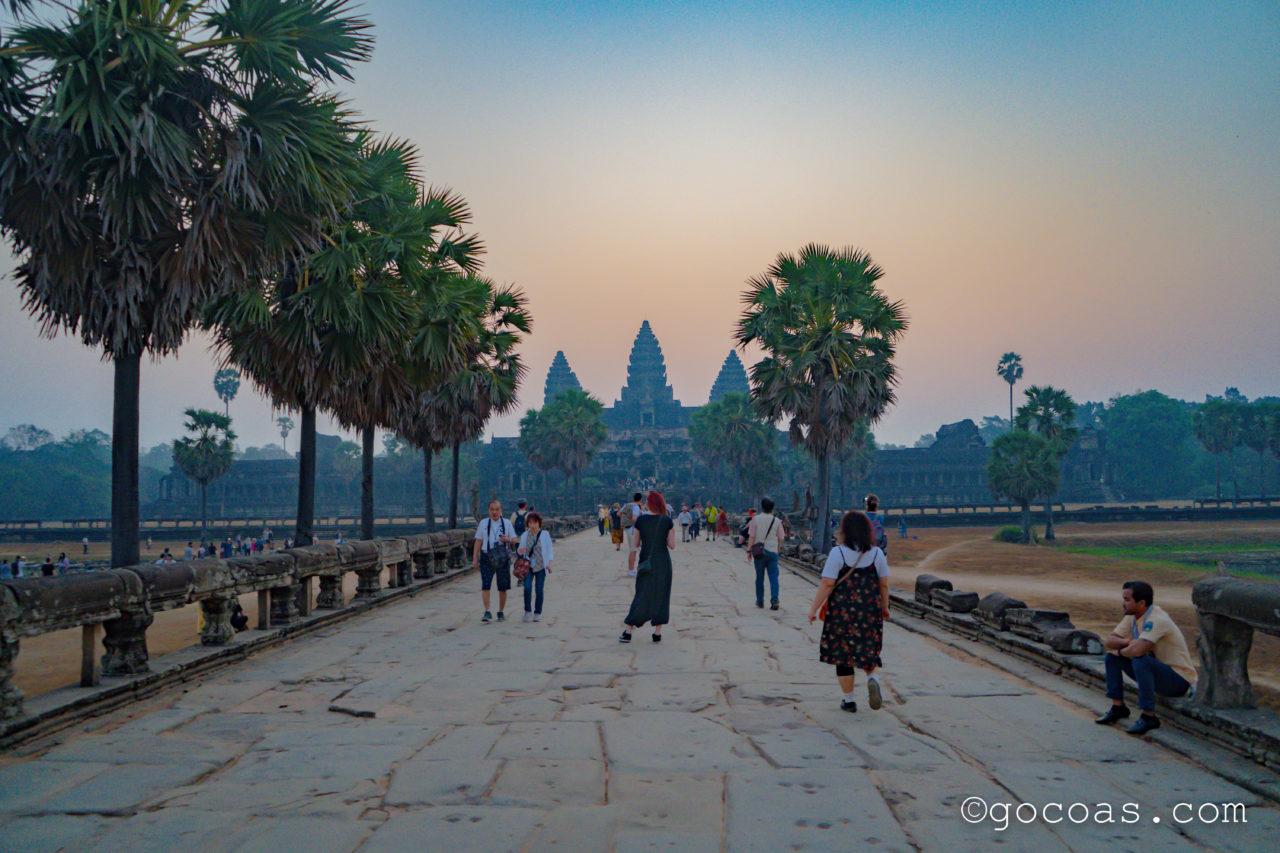 カンボジア遺跡 アンコールワット サンライズ