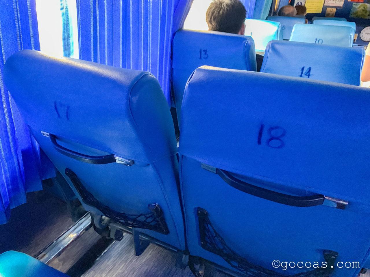 Bangkok Bus Terminalで乗ったバスの座席番号