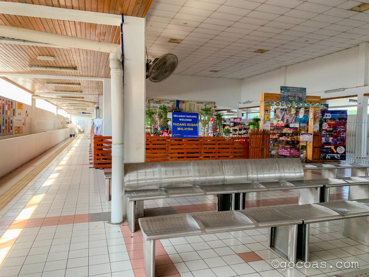 Padang Besar駅の待合スペース