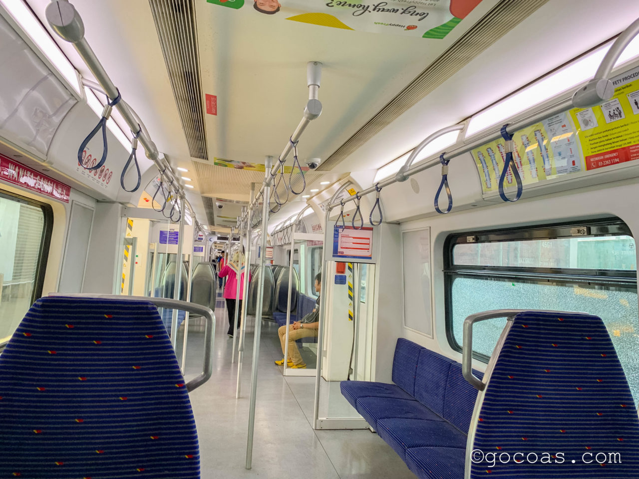 Padang Besar駅で乗ったButtrerworth行きの電車内
