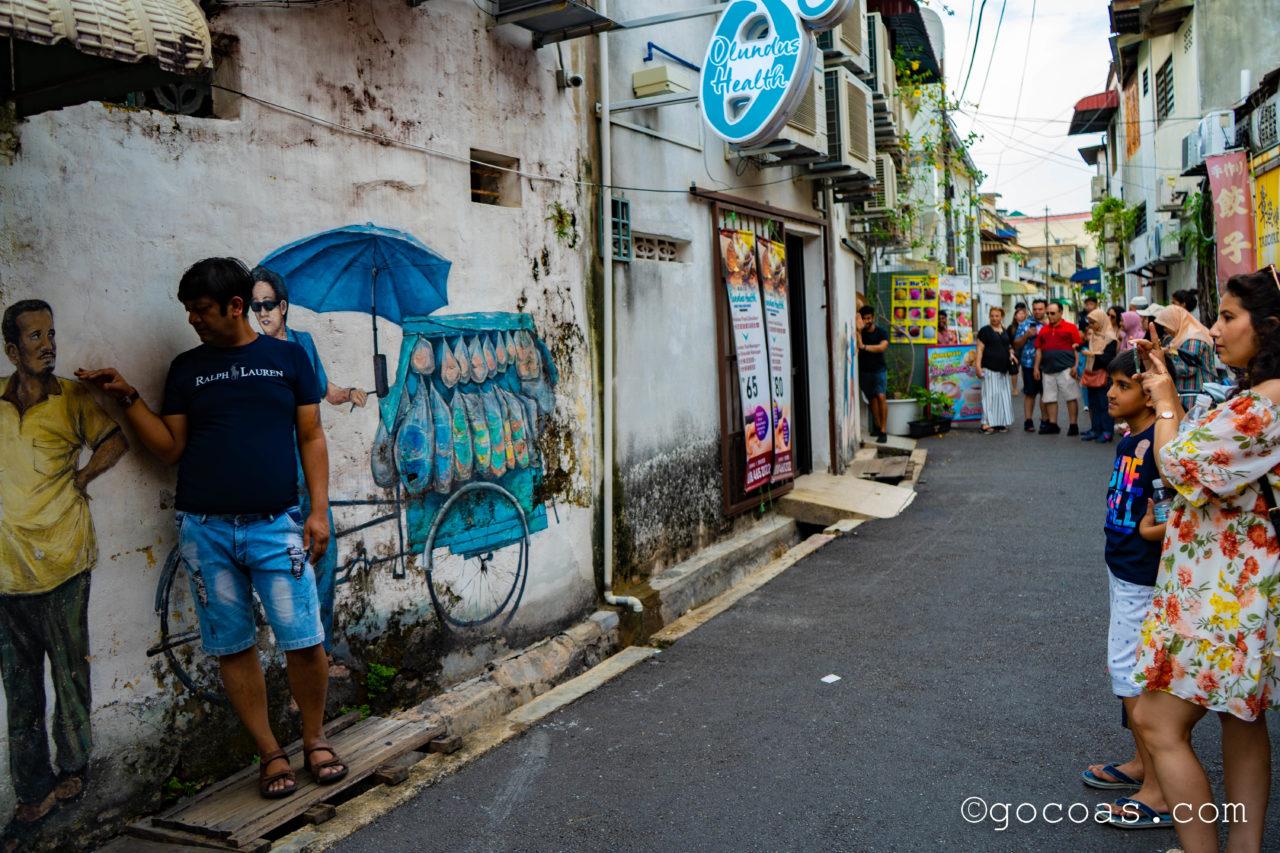 ペナン島の街中にあったウォールアート