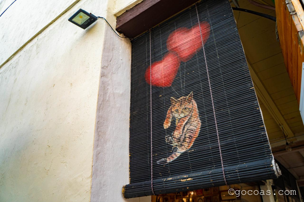 ペナン島の街中にあった猫のウォールアート