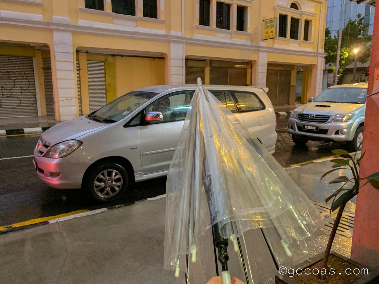 ザ エクスプローラー ゲストハウスで貸してくれた傘