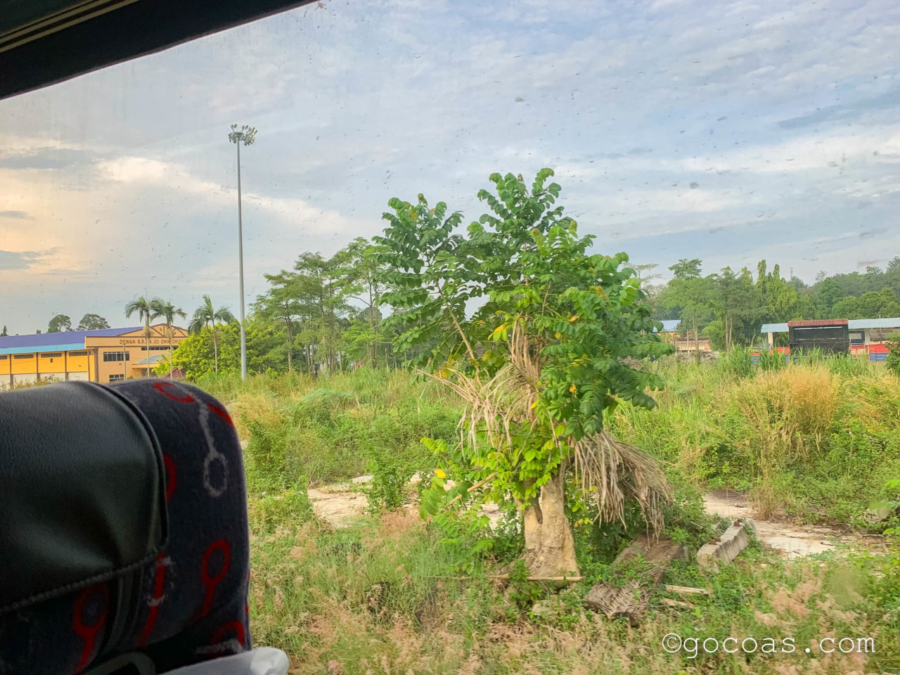 マレー鉄道の車内から見た景色