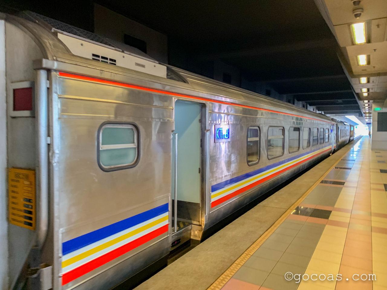 マレー鉄道のJBセントラル駅で乗る電車