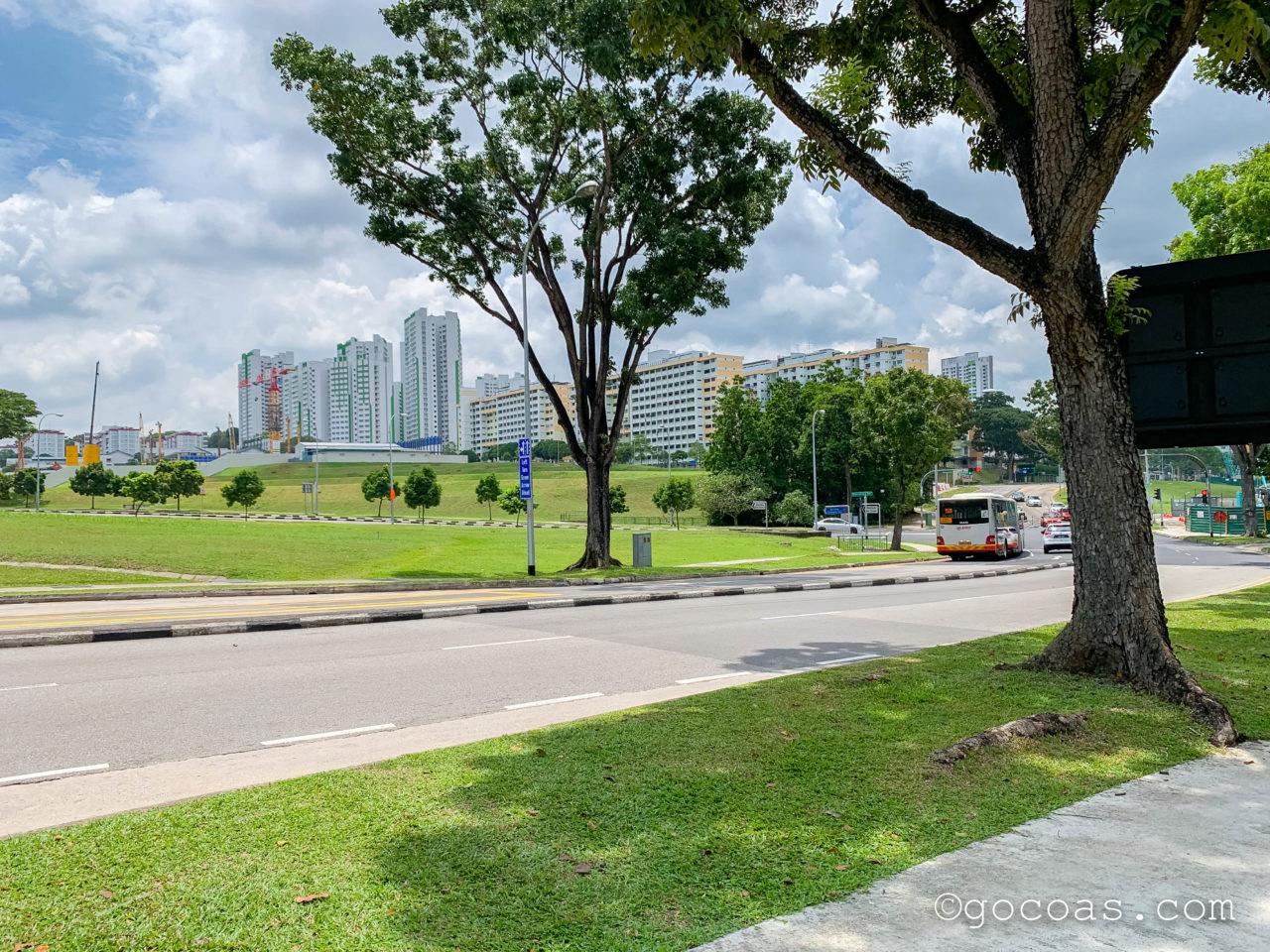 Woodlands Train CheckpointからMarsiling MRTの道中見えたマンション