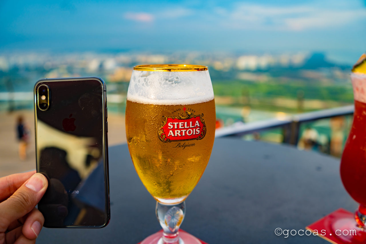 CÉ LA VI RESTAURANT AND SKYBARで飲んだSTELLA ARTOISビール