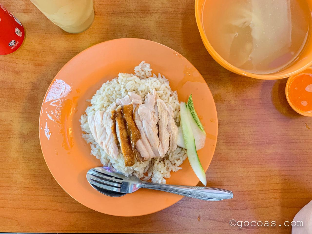 Shuang Shun Chicken Riceで食べたカオマンガイ