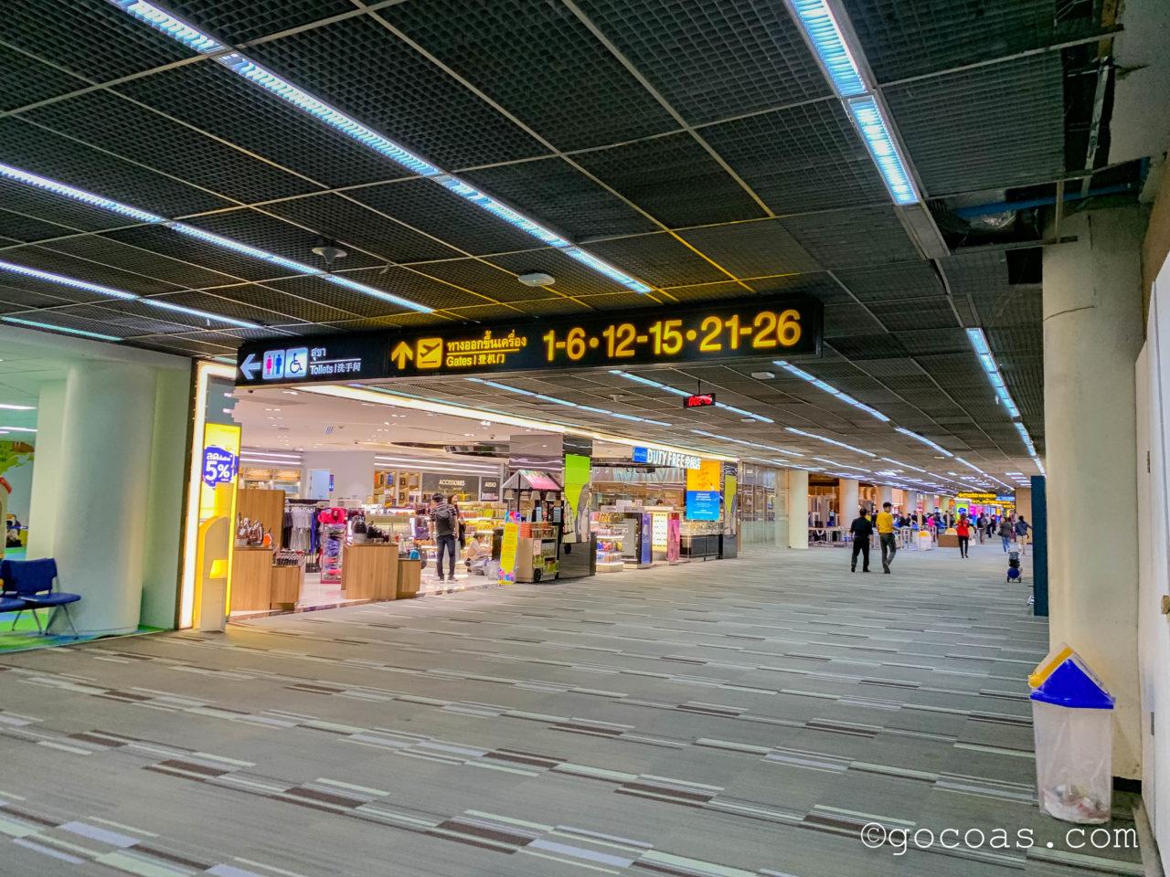 ドンムアン空港の国際線搭乗エリア