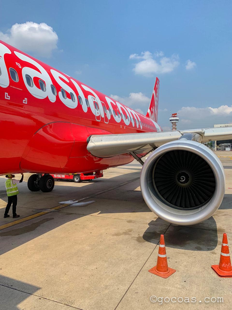 ドンムアン空港で乗った飛行機外観
